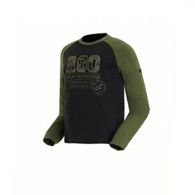 Regatta Wylie - T-shirt manches longues Enfant - vert/noir